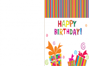 printable happy birthday present card