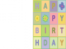 Printable Quilted Happy Birthday Cards