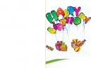 Balloon Happy Birthday Card