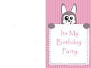 Bunny Birthday Printable Invitations