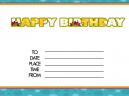 Floral Birthday Party Printable Invitations