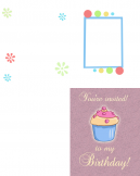 Printable Cupcake Birthday Invitations