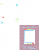 Printable Trifold Birthday Invitation