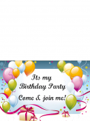 Ribbon and Balloons Printable Invitations
