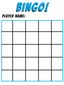 Blue Bingo Printable Board Games