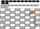 Double Cowboy Printable Checkers Board Game