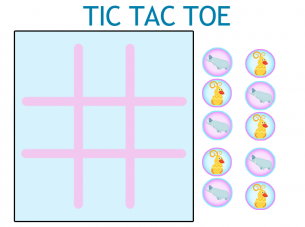 picture regarding Free Printable Tic Tac Toe Board called Printable Blue Tic Tac Toe Board Video game