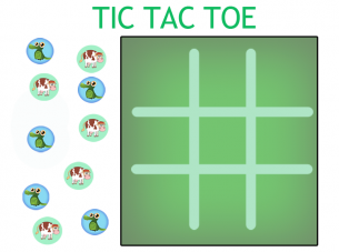 Declarative image within tic tac toe board printable