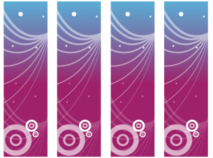 Printable Blue and Purple Bookmarks