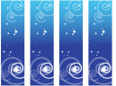 Printable Blue Swirl Bookmarks