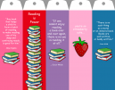 Printable Strawberry Bookmarks