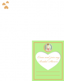 Green Heart Free Printable Bridal Shower Invitation