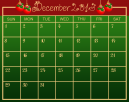 December Green Printable Calendar Template