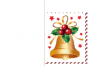 Printable Gold Bell Christmas Cards