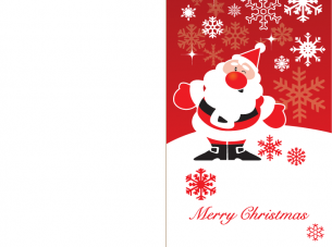 Printable Santa Merry Christmas Cards
