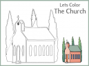 Let's Color This Church! Worksheet