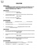 Printable Creation Questions Church Worksheets