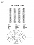 Printable Word Search Church Worksheet