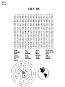 Printable Word Search Church Worksheets
