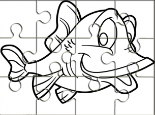 Fish Outline Printable Puzzles