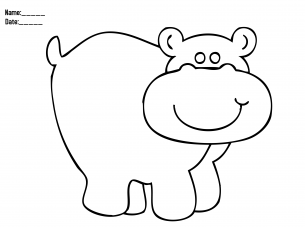 Hippo coloring pages of all kinds amazon ~ Hippo Coloring Christmas Printable Activities