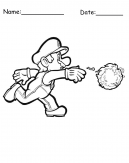 Mario Fire Printable Coloring Pages