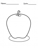 Printable Apple Coloring Sheets