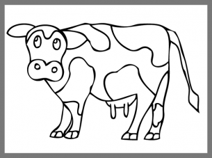 printable cow coloring sheet