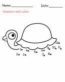 Turtle Connect The Dots Activity