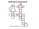 Printable Animals Crossword Puzzles