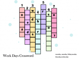 Printable Seven Days Crossword Puzzles