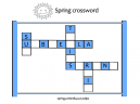 Printable Spring Crossword Puzzles