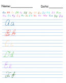 Printable tracing Cursive Words Worksheets