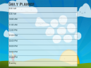 Cloud Daily Planner Printable Calendars