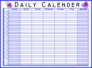 Printable Blue Daily Calendars