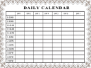 Printable Custom Daily Calendar