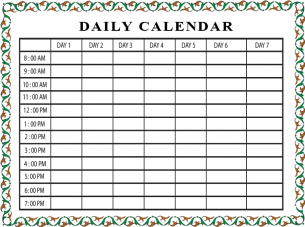 print daily schedule