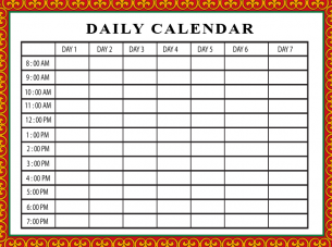 photo relating to Daily Calendar Printable titled Printable Cost-free Day by day Calendar