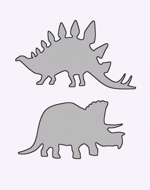 dinosaur templates to print - stegosaurus and triceratops stencils printable crafts