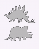 Stegosaurus And Triceratops Stencils Printable Crafts