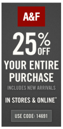 Printable Abercrombie and Fitch Coupons