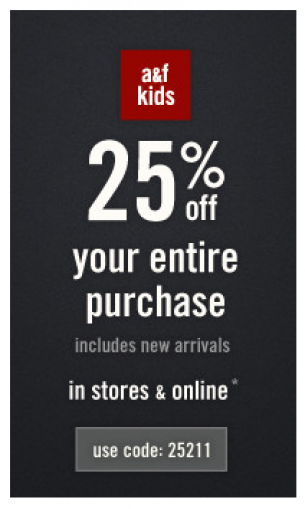 Abercrombie online coupons codes free shipping