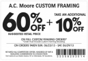 Printable AC Moore Frame Coupons