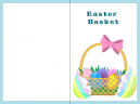 Blue Basket Printable Easter Card