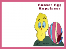 Pink Chick and Easter Egg Printable Easter Card