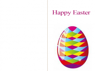 Printable Easter Egg Cards