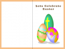 Religious Easter Egg Printable Easter Card