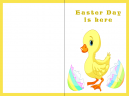 Yellow Chick Printable Easter Card