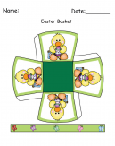 Green Basket And Duck Printable Easter Craft