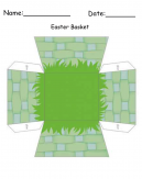 Green Easter Basket Printable Craft